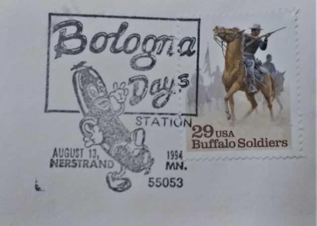 Nerstrand Bologna Days Cancellation Stamp, 1994.