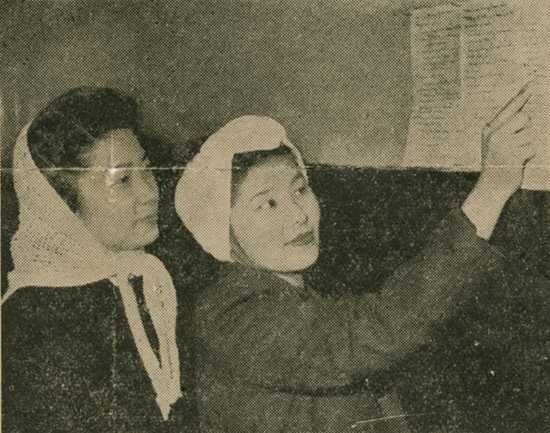 Alice Tokuno and Kate Iwasaki at the St. Paul Resettlement Hostel