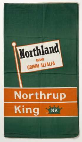 Northrup King seed bag for Grimm alfalfa