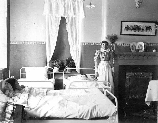 nurse with patient in fergus falls state hospital mnopedia