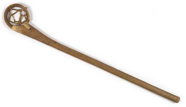 Traditional Ojibwe lacrosse stick