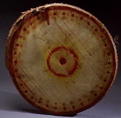 Ojibwe moccasin game drum