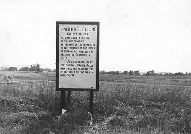 Oliver Kelley home marker, Sherburne County