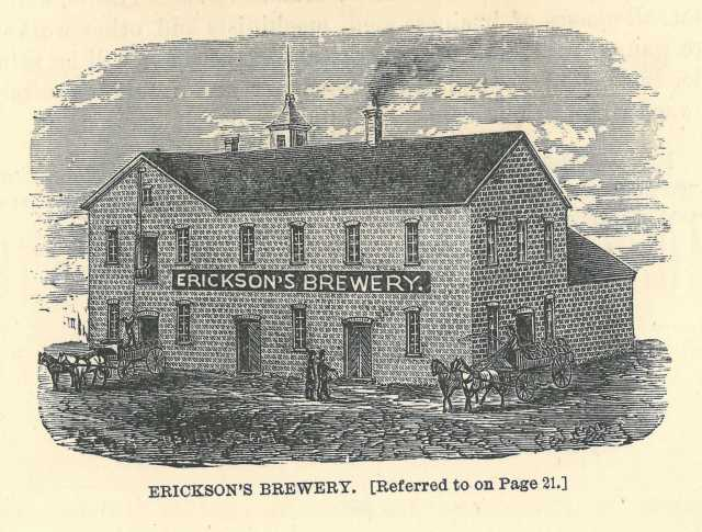 Erickson's (Moorhead) Brewery. Engraving, ca. 1883. From The Valley of the Red River of the North: A Pamphlet (Cleveland: Moorhead Board of Trade, 1883): 43.