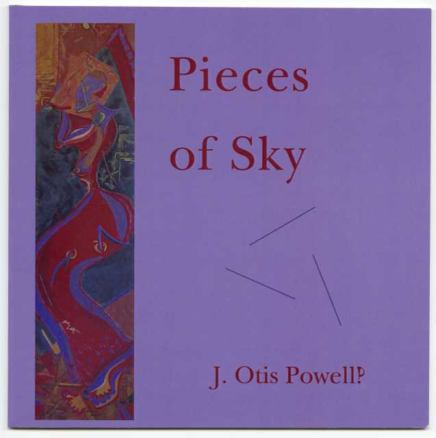 Cover art for Pieces of Sky, by J. Otis Powell‽ (Rain Taxi, 2014).