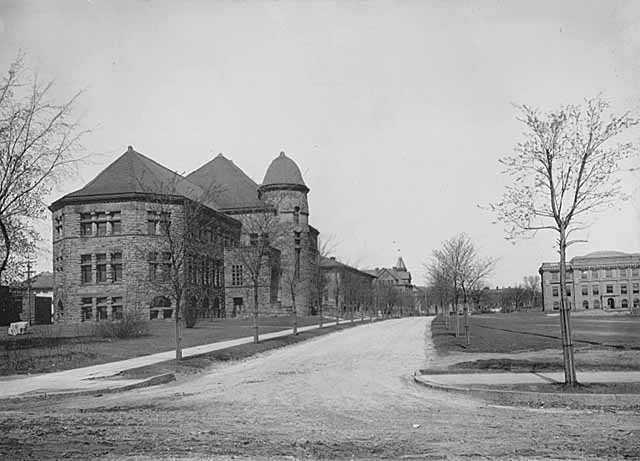Pillsbury Hall; Jones Hall to the right