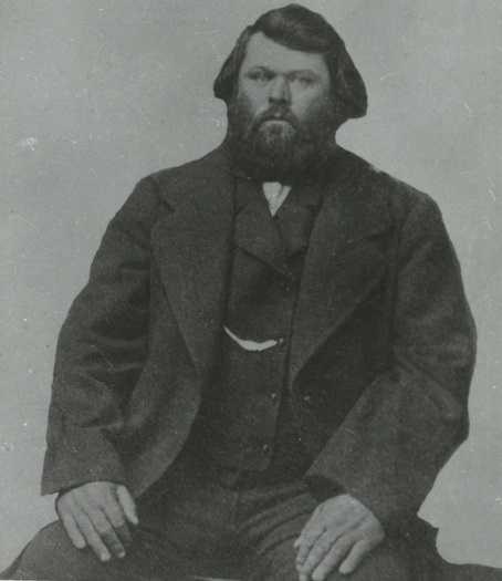 Black and white photograph of Antoine Blanc Gingras, Métis Fur Trader and member of the Minnesota Territorial Legislature, ca. 1855.