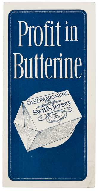 Cover of a brochure published by Swift & Company, a national meatpacker and margarine producer with operations in St. Paul. Image is from the Davis, Kellogg & Severance Law Firm Records, 1878–1941, Minnesota Historical Society.