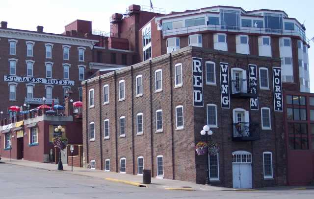 Red Wing Ironworks, 2010, with St. James Hotel to rear