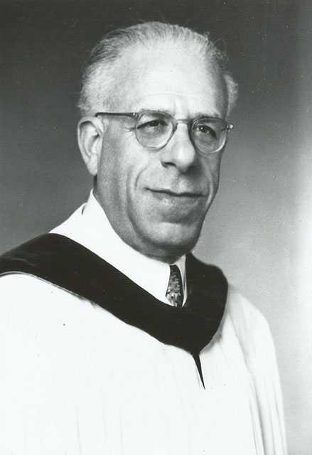 Black and white photograph of Albert Minda, rabbi of Temple Israel, Minneapolis, 1921–1963, undated.