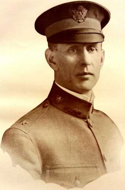 Black and white photograph of Adjutant General Walter F. Rhinow, commander of all state troops, including the Minnesota Home Guard, c.1918.