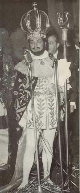 "Visiting ""royalty"" from Rio's Carnival, 1963"