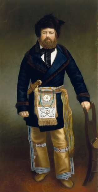 Joseph Rolette portrayed as a Métis in a pastel by an unknown artist, c.1890.