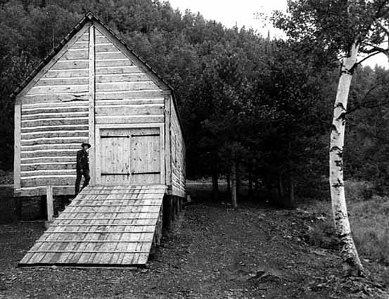 Canoe shed at Grand Portage