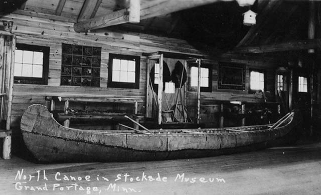 Canoe in the Stockade Museum at Grand Portage