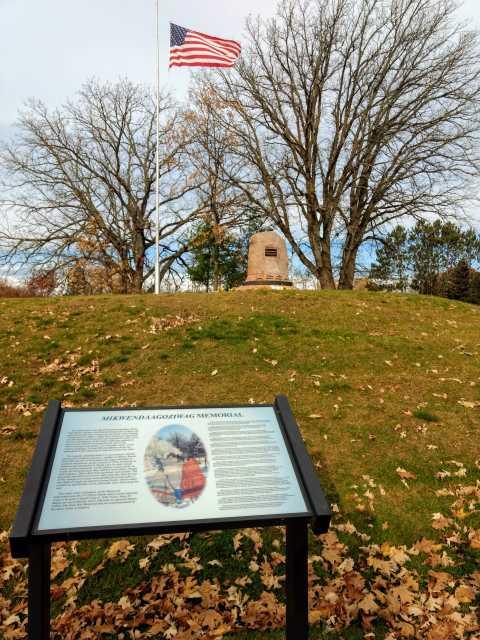 Mikwendaagoziwaag (memorial) at Sandy Lake