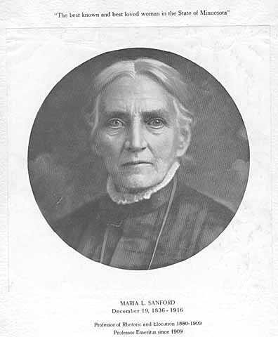 Portrait of Maria Louise Sanford from a program from a convocation in honor of her eightieth birthday