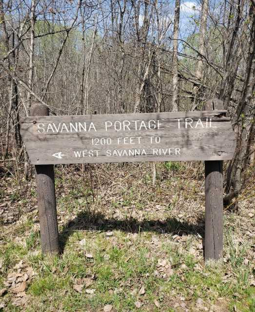 Sign within Savanna Portage State Park, 2018. Photograph by Jon Lurie; used with the permission of Jon Lurie.