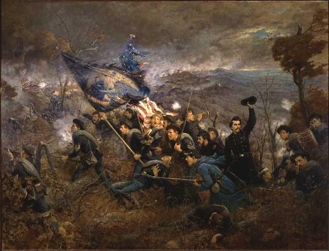 Second Minnesota Regiment at Mission Ridge, Nov. 25, 1863