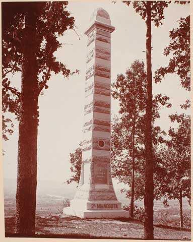 Monument to 2nd Minnesota Regiment at Mission Ridge, Chattanooga, Tennessee.