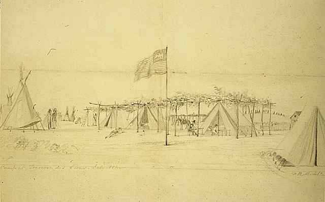 Camp at Traverse des Sioux
