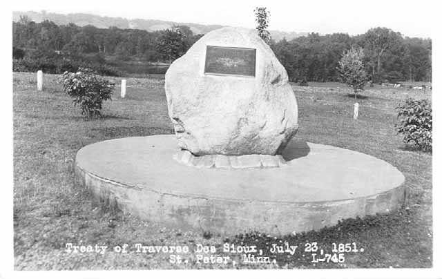 Traverse des Sioux treaty marker.
