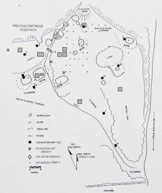 Site map of Little Round Hill, 2104.