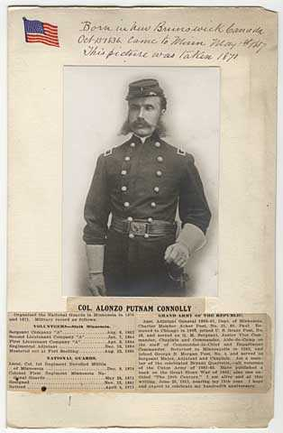 Colonel Alonzo Putnam Connolly, Sixth Minnesota Volunteer Infantry and National Guards.