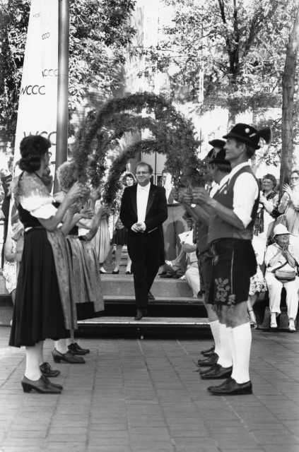 Black and white photograph of Sommerfest, c.1980s.