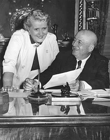 Photograph of Knutson and Speaker of the House Sam Rayburn, ca. 1965.