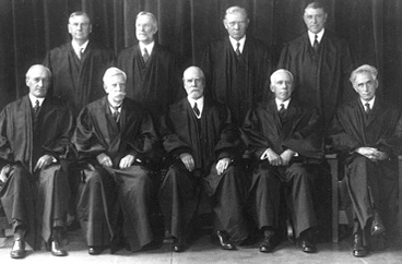 Black and white photograph of U.S. Supreme Court justices, 1932.