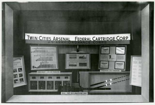 Window display for Twin Cities Arsenal and Federal Cartridge Corporation