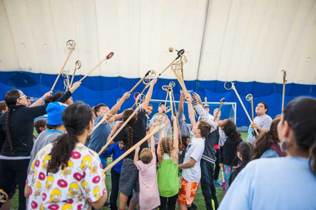 Community lacrosse game in Savage