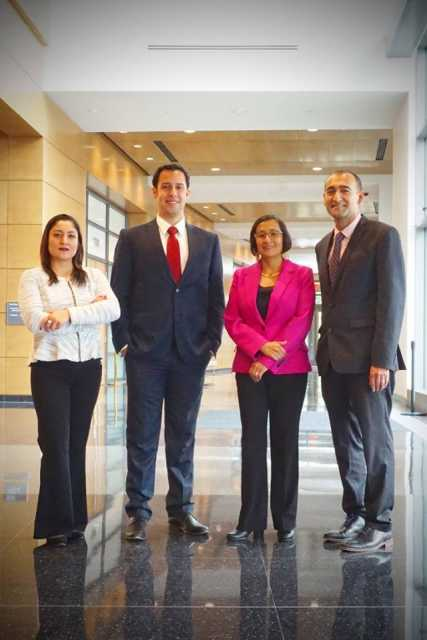 Color image of MCLA staff (left to right): Violeta Hernández Espinosa, Eric Armacanqui, Rosa Tock, and Henry Jiménez, 2017.
