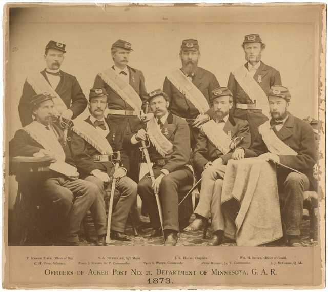 Officers of Acker Post No. 21, Minnesota Grand Army of the Republic