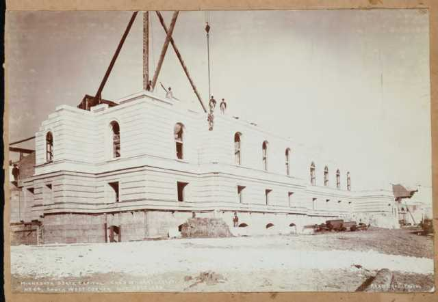 View of the Capitol, mid-construction