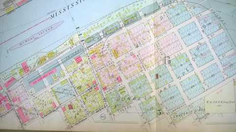 Color image of a 1916 plat map of that portion of the Flats not included in the previous map