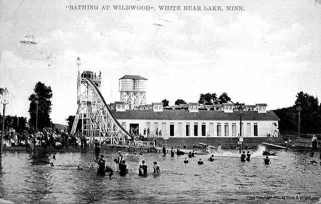 Bathing at Wildwood, c.1910.