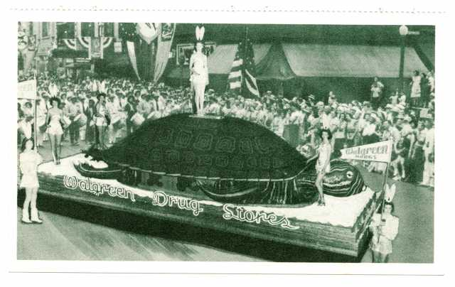 'Tortoise and Hare' themed Walgreen Drug Stores Float, Aquatennial 1948