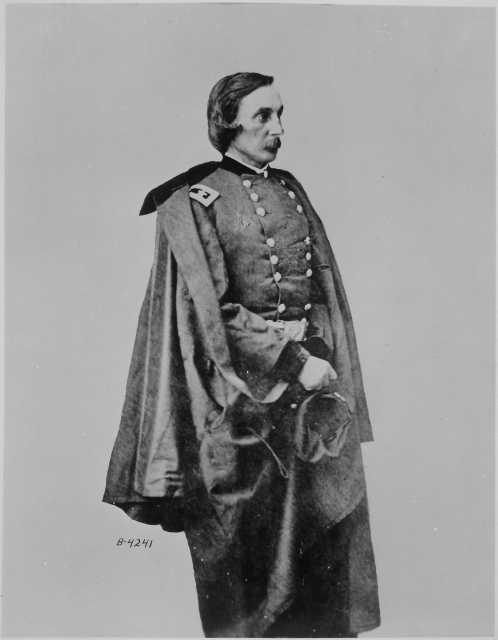 Black and white photograph of Major General Gouverneur K. Warren, ca. 1863–1865. Photographed by Matthew Brady.