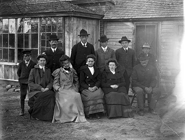 William and Frederick Spangenberg Jr. with family and friends