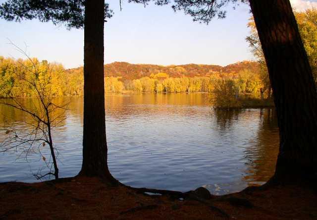 Riverside trail in William O'Brien State Park