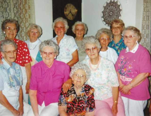Color image of members of the Dorcas Mission Society, ca. 1990s.