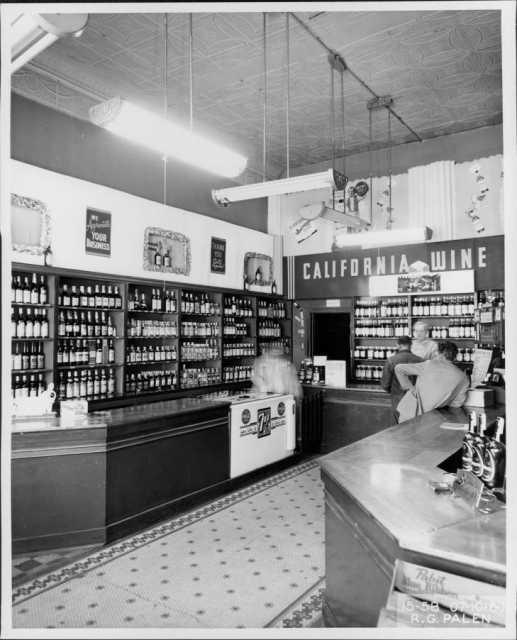 California Wine Shop interior