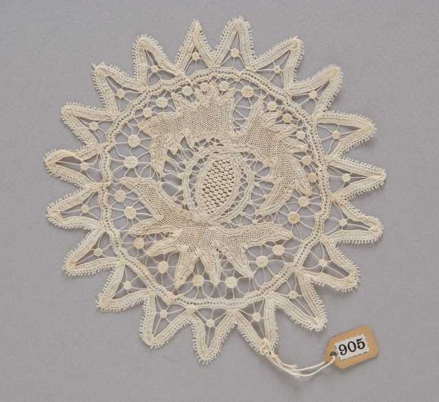 photograph of a round lace doily