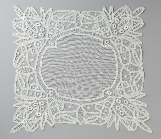 photograph of a Battenberg lace table cover