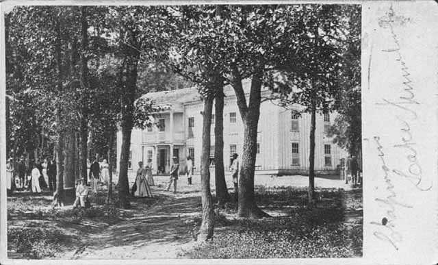 Carte-de-visite of Chapman's Hotel, c.1875.