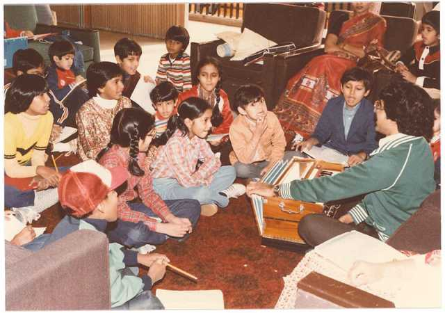 A class at the School of India for Languages and Culture (SILC), ca. 1980s