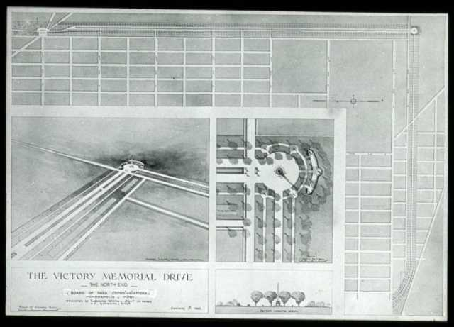 1920 Minneapolis Park Board plans for the north end of Victory Memorial Drive