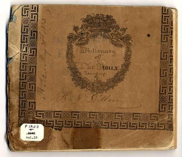 English-French-Dakota Dictionary, 1835